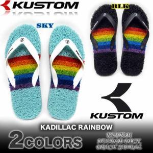 KUSTOM カスタム メンズ ヌードルデッキ ビーチサンダル AG208-554 KADILLAC MULTI BORDER|venice