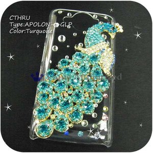 Android One 507SHケースカバー豪華スワロフスキーデコ電APOLON-CTHRU-507SH venus-hk