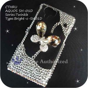 AQUOS PHONE 103SH/DM012SHケースカバー豪華スワロフスキーデコ電BRIGHT-CTHRU-103SH|venus-hk