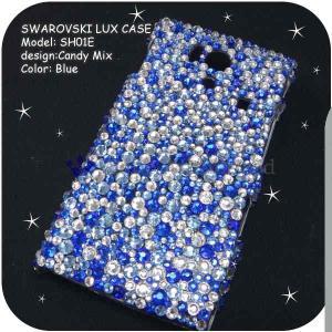 AQUOS PHONE 103SH/DM012SHケースカバー豪華スワロフスキーデコ電CANDYMIX-LUX-103SH|venus-hk