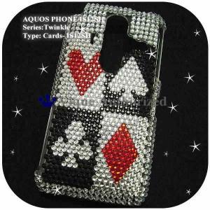 au AQUOS PHONE IS12SHケースカバー スワロフスキー風キラキララインストーンデコ電CARDS-IS12SH|venus-hk