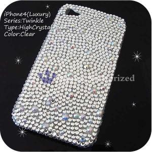 iPhone4ケースカバー豪華スワロフスキーゴージャスデコ電 HIGHCRYSTAL-LUX-iPhone4|venus-hk