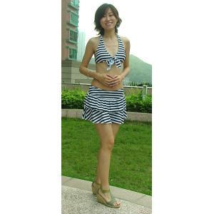 水着レディースストライプビキニ&スカート3点セットBORACAY 超お買い得SALE!|venus-hk|02
