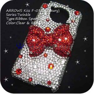 ARROWS Kiss F-03D/F-03D Girl's/Anteprima F-09Dケースカバー 豪華スワロフスキーゴージャスデコ電 RIBBONSPARK-LUX-F03D venus-hk