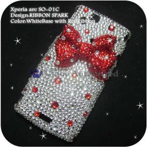 iPhone7/7Plus アイフォン7ケースカバー豪華スワロフスキーデコ電RIBBON SPARK-LUX-IP7 venus-hk