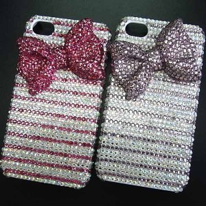 iPhone4ケースカバーの販売です、カバー豪華スワロフスキーゴージャスデコ電 RIBBON WAVE-LUX-iPhone4|venus-hk