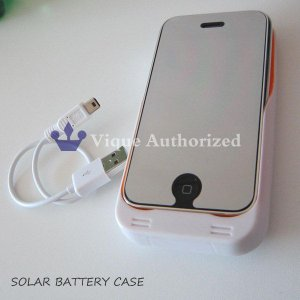 !iPhoneソーラーバッテリー充電器SOLAR BATTERY CASE|venus-hk