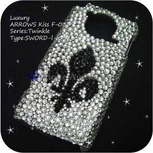 iPhone4ケースカバー豪華スワロフスキーデコ電SWORD-LUX-4|venus-hk