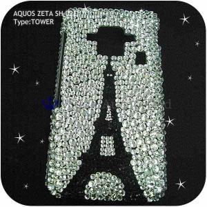 AQUOS ZETA SH-02Eケースカバー豪華スワロフスキーデコ電TOWER-LUX-SH02E|venus-hk