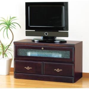 アンティーク調フラップテレビボード76cm幅       テレビ台 TVボード|venusclub