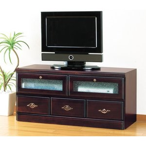 アンティーク調フラップテレビボード96cm幅        テレビ台 TVボード|venusclub