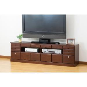天然木引き出しいっぱいテレビボード(鍵付き) 150cm幅      テレビ台 TVボード|venusclub