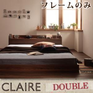 棚・コンセント付きフロアベッド【Claire】クレール【フレームのみ】ダブル|venusclub
