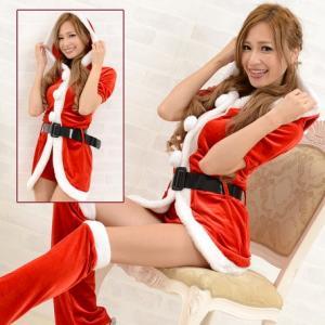 レディースサンタ クリスマスサンタコスチューム  0916サンタ4点セット|venusclub