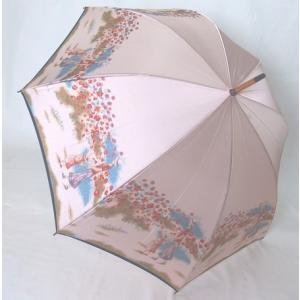 日本製雨傘 長傘 ほぐし織り 花柄  ピンク venusclub