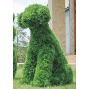 人工植物 動物トピアリー68cm イヌ|venusclub