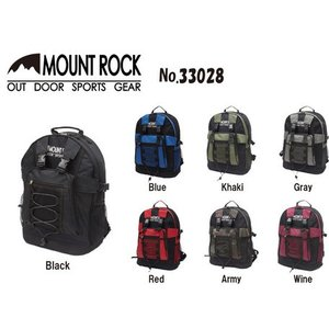 MOUNT ROCK  シンプルな大容量デイパック リュック|venusclub