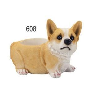 ラブリードックプランター 犬種:コーギー (穴有、キャップ付き)|venusclub