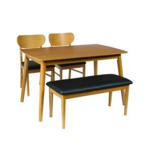 【シープ】ベンチダイニング4点セット ダイニングテーブル (120cm幅/4人掛け用) 《2色あります》|venusclub