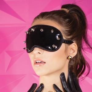黒 スタッズ付き PVCアイマスク|venusclub