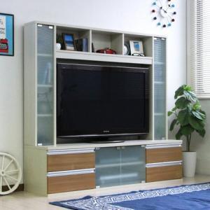 テレビ台 ハイタイプリビング壁面収納 50インチ対応 TV台 ゲート型AVボード 150cm幅 ホワイト|venusclub