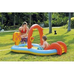 すべり台付シャワーエアープール ベビープール 子供用プール キッズプール|venusclub