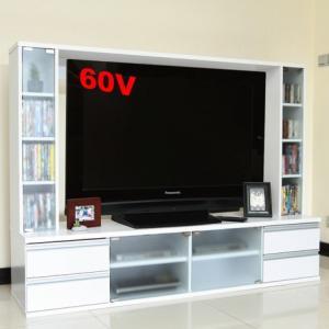 TV台 テレビ台 テレビボード ゲート型 ハイタイプテレビボード60インチ大型液晶テレビ対応 AVボード  ホワイト|venusclub