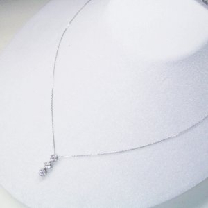 2way プラチナ ダイヤモンド ネックレス 計0.3カラット ダイヤモンドネックレス フラワー ハート 鑑別書付 3営業日前後の発送予定|venusjewelry|02