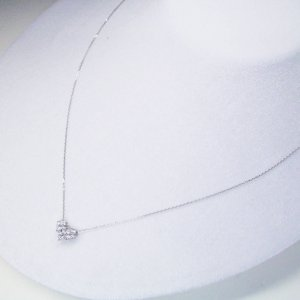 2way プラチナ ダイヤモンド ネックレス 計0.3カラット ダイヤモンドネックレス フラワー ハート 鑑別書付 3営業日前後の発送予定|venusjewelry|03