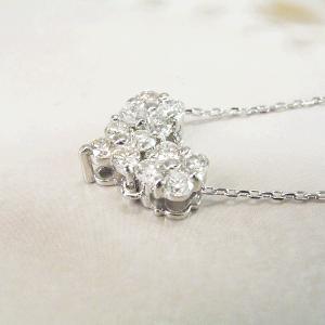 2way プラチナ ダイヤモンド ネックレス 計0.3カラット ダイヤモンドネックレス フラワー ハート 鑑別書付 3営業日前後の発送予定|venusjewelry|04