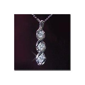 ダイヤモンド ネックレス プラチナ 3Stone ダイヤ 鑑別書付 3営業日前後の発送予定|venusjewelry|02