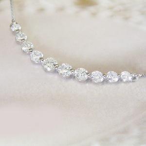 ダイヤモンド ネックレス プラチナ 計1カラット ギフト 3営業日前後の発送予定|venusjewelry|03