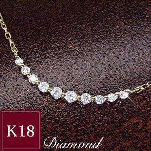 ダイヤモンド ネックレス K18 3営業日前後の発送予定|venusjewelry