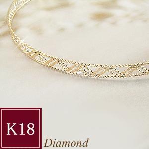 ダイヤモンド バングル K18  一粒 3営業日前後の発送予定|venusjewelry