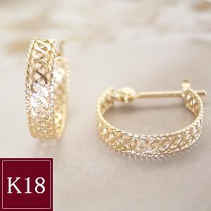 K18 フープ ピアス 18金ゴールド 3営業日前後の発送予定|venusjewelry