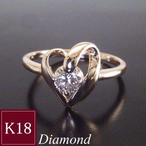鑑別書付 K18PG 天然 ダイヤモンド リング ハート 一粒 0.3カラット 指輪 妻 彼女 3営業日前後の発送予定|venusjewelry