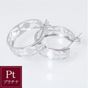 プラチナ製 フープ ピアス 3営業日前後の発送予定|venusjewelry