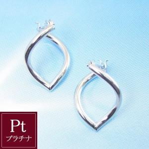 プラチナ ツイスト フープ ピアス 3営業日前後の発送予定 venusjewelry