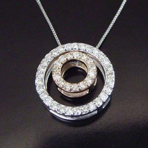 3Way ダイヤモンドネックレス ダブルサークル計0.25カラット 3営業日前後の発送予定|venusjewelry|02