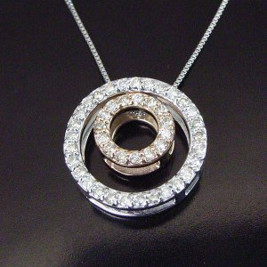 3Way ダイヤモンドネックレス ダブルサークル計0.25カラット ネックレス 妻 彼女 3営業日前後の発送予定|venusjewelry|02