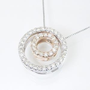 3Way ダイヤモンドネックレス ダブルサークル計0.25カラット ネックレス 妻 彼女 3営業日前後の発送予定|venusjewelry|03