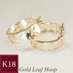 18金ゴールド K18 フープ ピアス 3営業日前後の発送予定|venusjewelry
