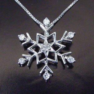 プラチナ製  雪の結晶 ダイヤモンド ネックレス 3営業日前後の発送予定|venusjewelry|02