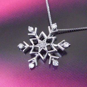 プラチナ製  雪の結晶 ダイヤモンド ネックレス 3営業日前後の発送予定|venusjewelry|03