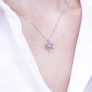 プラチナ製  雪の結晶 ダイヤモンド ネックレス 3営業日前後の発送予定|venusjewelry|04