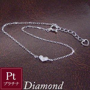 プラチナ製 ダイヤモンド ハートパヴェ ブレスレット 3営業日前後の発送予定|venusjewelry
