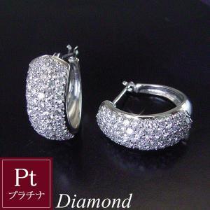 天然 ダイヤモンド ピアス プラチナダイヤ 計1カラット パヴェ 3営業日前後の発送予定|venusjewelry