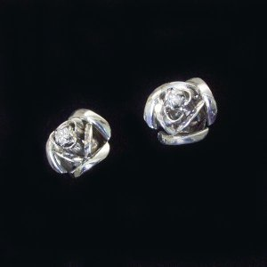 プラチナ 天然 ダイヤモンド ピアス 薔薇 ギフト 3営業日前後の発送予定|venusjewelry|04
