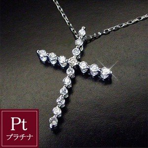 プラチナ ダイヤモンド ネックレス クロス ダイヤモンドネックレス ペンダント 3月7日前後の発送予定|venusjewelry