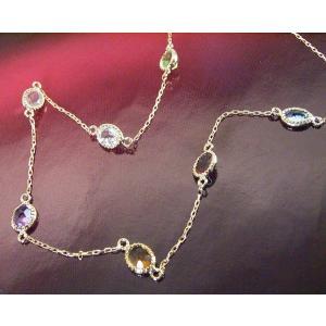 K18 ステーション ネックレス 妻 彼女 7色の天然宝石 アクセサリー 3営業日前後の発送予定 venusjewelry 02